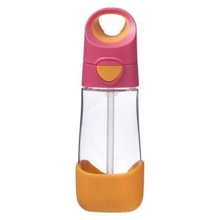 Butelka tritanowa ze słomką 450 ml, Strawberry Shake, b.box